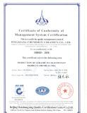 CHEMSHUN CERAMICS ISO9001 certificate