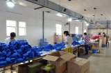 Scouring pads production line