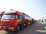 The photos of Diesel&Petrol tanker semi trailer ready to be exported to Kenya
