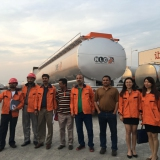 Pakistan NLC inpection team inspect the fuel tanker trailer