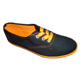 Cheap Low Cut Plain Black Rubber Outsole Casual Canvas Shoes