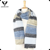Trendy Colorful Stripe Stretch Knitted Scarf