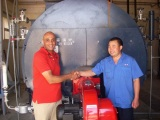 overseas boiler service in Egypt for another 2*2ton