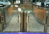 cylinder swing gate