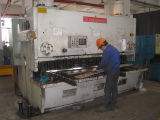Plate shearing and folding