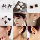 Wholesale long silver pearl earrings