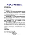 NBCU Certificates
