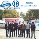 Running maize mill Zambia trade fair