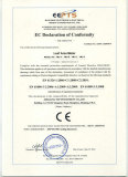 EC declaration of conformity of leaf area meter