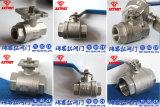 2pc stainless steel full port floating thread ball valve