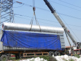 50KW wind turbine 24m tower load in the container