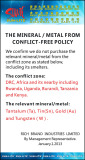 THE MINERAL / METAL FROM CONFLICT-FREE POLICY