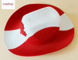 Canada Red Cowboy Hat Maple Leaf Adult Unisex