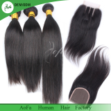 Top quality Silky straight bundles with closure