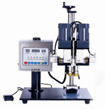 Rotary clip type screw capping machine