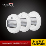 24W 5.2inch Round LED Interior Lights Sanmak New Ceiling Light