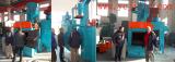 Customer visit and inspect the shot blasting machine