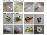 CNC machined aluminum panel and brass parts/ plastic parts