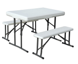 3pcs plastic folding table and bench set