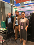 Our sales together with the customer on 121 Canton Fair