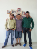 The client from India come to visit our office in 2013
