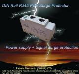 signal surge protector - DIN Rail RJ45 surge arrester POE