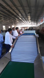 factory visiting for our fruit washing waxing drying sorting machine