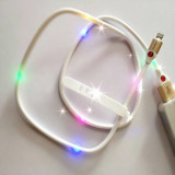 Patent 5 Colors Lighted USB Charging Cable for Ios Android