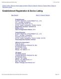 Klarity 2012 FDA Registration page