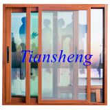 Residential Sliding Aluminium Window with Built-in Grid