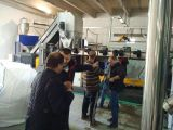 PE PP scraps pelletizing machine installed in Albania