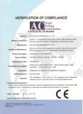 CE Certificate for HFFS Machine