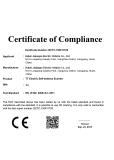 CE certificaiton of F2 model