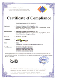 Certificate for Electronic Cigarette
