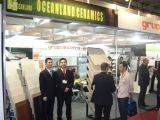 FEICON BATIMAT Fair in Sao Paulo, Brazil.
