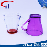 240ml Colrful Personalized Glass Cup with Hand (CHM8134)