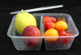Disposable double-grid Take away Food Containers