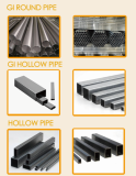 Steel Pipes----mixed black pipes and gi pipes & hollow sections