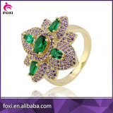 micro pave women gold plated rings