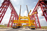 XCMG two sets of 500 tons crane effect China double