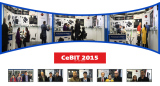 Cebit fair in Germany -Cathedy family