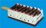 Layer type ice cream with extrusion line
