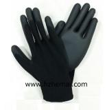 Black PU Palm Coated Glove