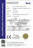 CE LVD certificate for Electric towel rails