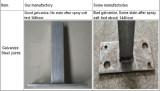 Galvanize Steel joints