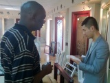 Our Malawi customer Mr. Moody visits us for purchasing aluminium windows and sliding doors