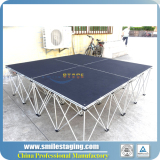 Aluminum Mobile stage with folding riser for sale