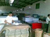 Packing in factory