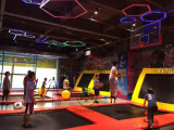 Basketball slam dunk and dodge ball area.