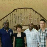 Africa friends visit our factory